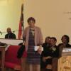 Mother Lovis Thomas gave words of thanks to church on behalf of the family.