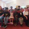 Youth of the church receiving instruction from Sis. Kimberly Dunn during the Children's Moment
