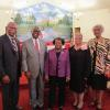 Rev. Thomas, Dr. Akinleye, Marie Dixon, Chairperson, Loretha McCoy and Celestine Ford