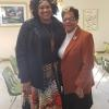 Takesha Murphy and Minister Geraldine Bryant at Sunday School before Black History Program