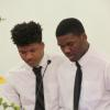 Christopher and Tyler Murphy wrote a poem for Rev. Thomas